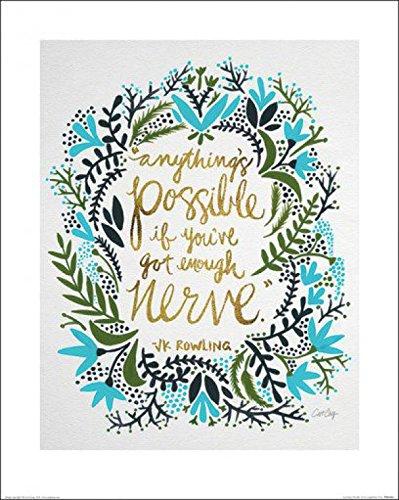1art1 99084 Motivation - Anything's Possible, Cat Coquillette Poster Kunstdruck 50 x 40 cm