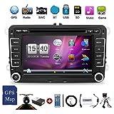 2 DIN con pantalla de 7 pulgadas para coche con DVD, GPS, reproductor DVD estéreo y sistema Window CE 6.0, con cámara incluida