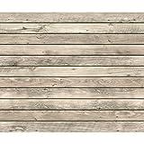 decomonkey Fototapete Holzwand 400x280 cm XL Tapete Fototapeten Vlies Tapeten Vliestapete Wandtapete moderne Wandbild Wand Schlafzimmer Wohnzimmer Holzoptik Brett Holz beige