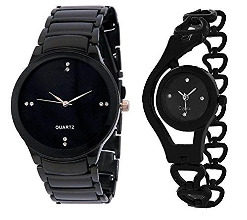 Krupa Enterprise Analogue Black Dial Mens and Womens Watches-55563