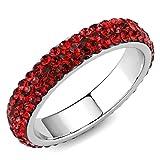 ISADY - Amaris Rubin - Damen Ring - Zirkonium Rot - Verlobungsring - T 50 (15.9)