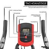 Miweba Sports Indoor Cycling MS100 Fitnessbike - 10 Kg Schwungmasse - Stufenfreie Widerstandsverstellung - Pulsmessung (Schwarz) - 4