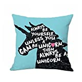 display08 Niedliche Cartoon Einhorn Druck Kissenbezug Bett Sofa Taille Kissenbezug Home Decor (6#)