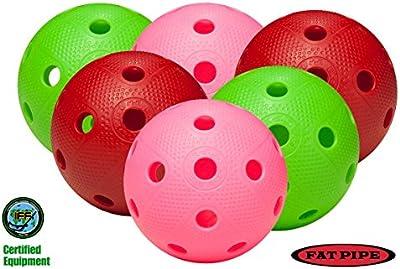 FAT PIPE - Juego de 6bolas para jugar al floorball, colore variados