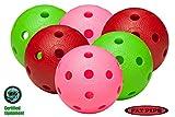 Fat Pipe Floorball/unihockey Juego de 6 bolas - Color Mix