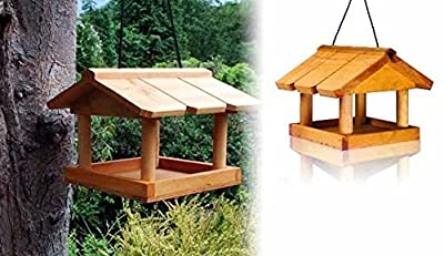Hanging Wooden Bird Table New Locations Safe Wild Bird Feed Wooden Roof Panels Simply Assembly from S&S