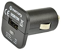 Mercury 421.750 2100mA Compact USB In Car Charger