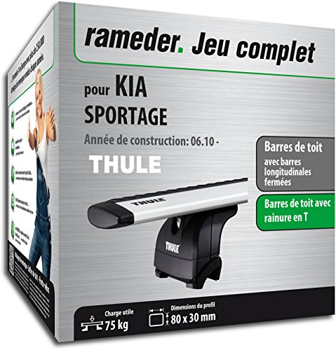 Rameder Pack Barres de Toit WingBar Evo pour KIA SPORTAGE (114648-08751-2-FR)