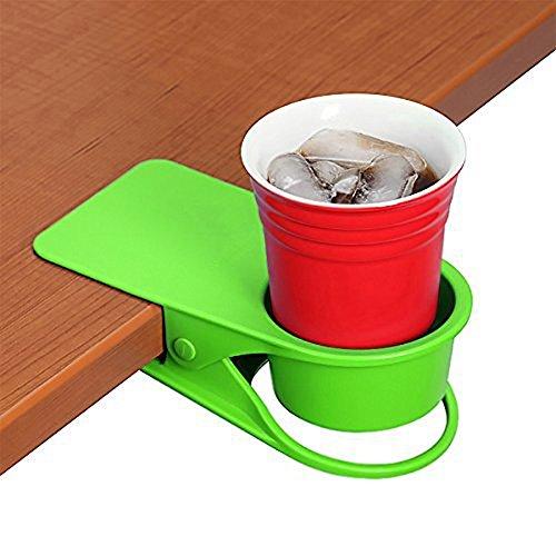 do4u Trinken Home Büro Tisch Schreibtisch Seite Riesige Clip Wasser Trinken Soda Kaffeebecher Getränkehalter Tasse Untertasse Design Grün - Cup Holder Desk Laptop