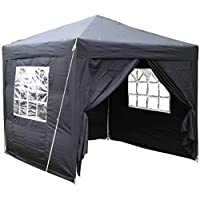 Airwave 2.5 x 2.5 m Pop-Up Garden Gazebo with 2 Wind-Bars and 4 Leg Weight Bags 12