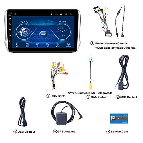 Hadeyicar Pantalla 2.5D Android 8.1 Car GPS Multimedia - Reproductor de DVD...