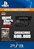 Grand Theft Auto Online | GTA V Blue Shark Cash Card | 500,000 GTA-Dollars | PS3 Download Code - deutsches Konto
