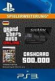 Grand Theft Auto Online   GTA V Blue Shark Cash Card   500,000 GTA-Dollars   PS3 Download Code - deutsches Konto