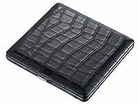 Visol Products Zaire Crocodile Pattern Cigarette Case, Black