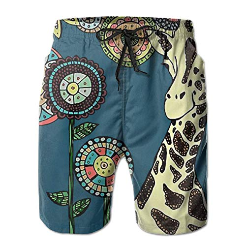 Nacasu Men's Swim Trunks Giraffe Casual Sportswear Quick Dry Beach Shorts for Boys Summer M (Xl Reyn Spooner)