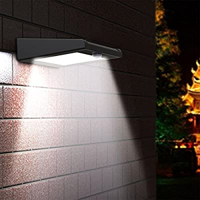 30 LED Solar Light, Holan Waterproof Solar Motion Sensor Light Security Lights Solar Powered Lights Outdoor Bright Lights Wall Lamp for Garden, Fence, Patio, Deck, Yard, Walkway, Driveway, Stairs, Outside Wall etc.