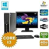 Pack PC HP Compaq 6200 Pro SFF Core i3 3.1GHz 4GB 500GB DVD WIFI W7 + Bildschirm 19