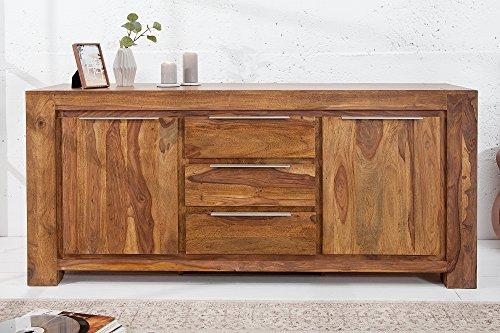 DuNord Design Sideboard Kommode Goa 175cm Massivholz Sheesham Massiv Holz Anrichte Buffet