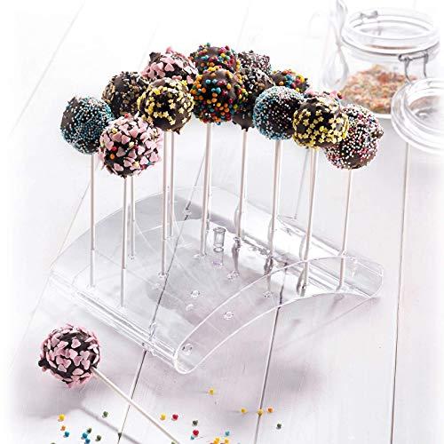 Depory Cake Pop-Butler Für bis zu 20 Cake Pops 22 x 16 x 6 cm Kunststoff Transparent Cake Butler