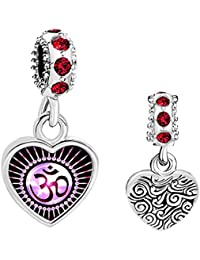 Uniqueen Yoga símbolo charms Beads para pulsera Europea
