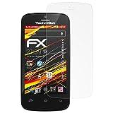 atFolix Folie für Technisat TechniPhone 4 Displayschutzfolie - 3 x FX-Antireflex-HD hochauflösende entspiegelnde Schutzfolie