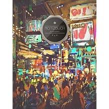 """TULPE Punktraster Notizbuch A4 """"C059 Tokyo"""" (140+ Seiten, Vintage Softcover, Punktkariertes Papier - Bullet Journal, Dickes Notizheft, Skizzenbuch, Tagebuch, Gepunktete Seiten, Dot Grid Notebook)"""