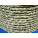 1 Meter Pösamo Nr. 111 Sisal-Seil gedreht max. 28 Kg DIN EN 698 naturfarben Durchmesser 6 mm Meterware Seil Tauwerk