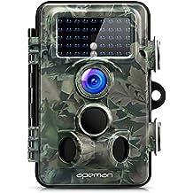APEMAN Wildkamera 130 ° Weitwinkelobjektiv Jagdkamera 12MP 1080P HD Tierbeobachtung 42 IR LEDs 20 Meter Reichweite IP66 staub-wasserdicht