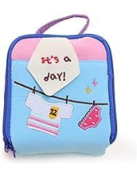 Blue Handcart Womens Cute Cartoon Cotton Tampon Sanitary Pad Storage Holder Bag