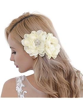 Accesorios para el pelo de novia, diadema de perlas, cristales, peine para novia, banda para el pelo, HP50
