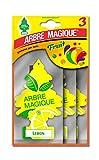 Arbre Magique Tris, Deodorante Auto, Fragranza Lemon, Profumazione Prolungata fino a 7 Settimane, Confezione Tripla