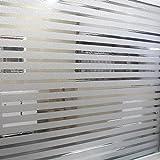 coavas Streifen Frosted Fensterfolie Statische Sichtschutz Fensteraufkleber Buntglas Dekorative Filme für Home Office besprechungsräume Glas Fenster Türen