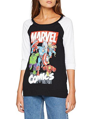 Marvel Comics Group, Camiseta para Mujer, Blue, 38