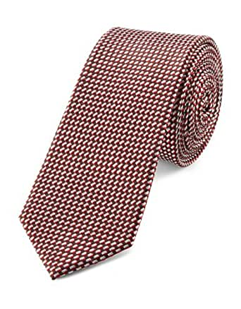 SIR Oliver Herren Krawatte 12.403.91.8717, Kariert, Gr. One size, Mehrfarbig (black brown)
