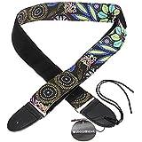 Crazo Foxpic Ajustable Universal Correa de Hombro Cinturón Para Guitarra Acústica Guitar Eléctrica (Multicolor Flor)
