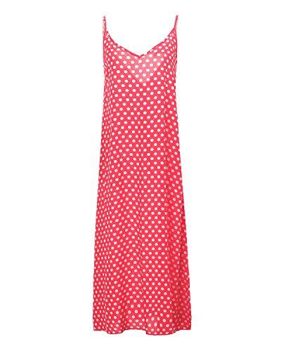 ZANZEA Damen Blusen Kleid Rosa