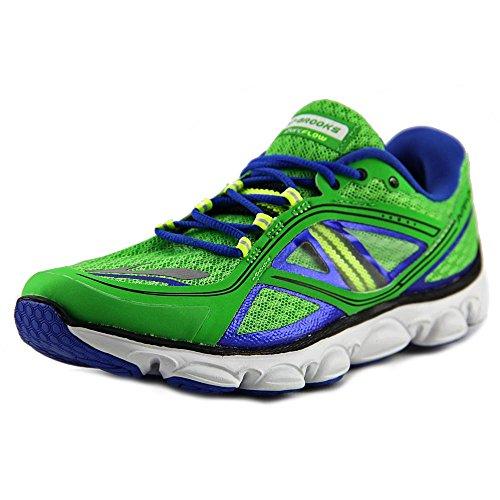 Brooks , Chaussures de course pour garçon vert vert 32 Verde (Classic Green/Electric/Nightlife
