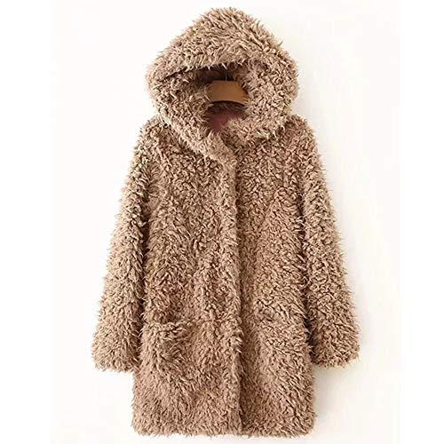 Mujer y Niña chaqueta abrigada Invierno fashion fiesta carnaval,Sonnena ❤️ Abrigo de lana artificial cálido para mujer Chaqueta de solapa Ropa de invierno