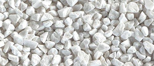Metroquadrocasa Graniglia Ornamentale di Marmo Bianco Carrara 8/12 mm 10 kg Sassi per Giardino