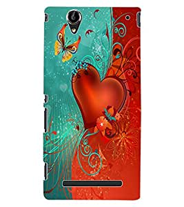 ColourCraft Love Heart Design Back Case Cover for SONY XPERIA T2 ULTRA