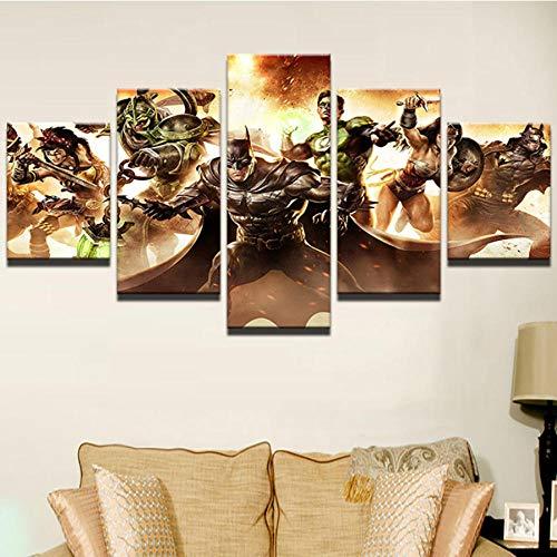 dhkawja Fünf Leinwand Paintingsmodern Leinwand Malerei Interior Wall Art Frame 5 Panel Avengers Comic Superhelden Film Charakter Bild drucken Home Decoration (gerahmt)-40x60x2 40x80x2 40x100x1 - Interior Wall Panels