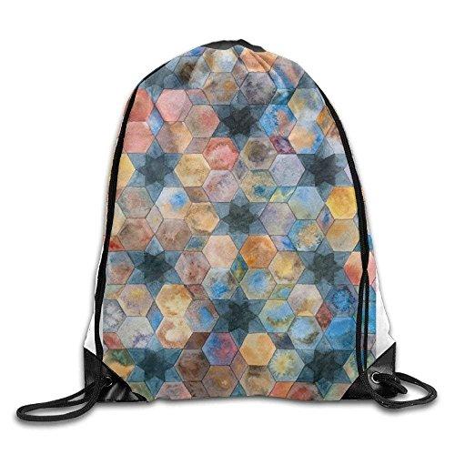 c2cf724fac FShopNow Awesome Fish Scale Print Drawstring Backpack Rucksack Shoulder  Bags Gym Bag Sport Bag Light Backpack