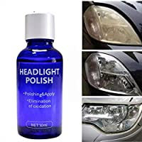FJ Bundle of 2,High Density Headlight Polish Liquid Cars Restoration Fluid Durable Car Repair Agent Lamp Scratch Oxidized Bright Plating Repair 30ML (1 Pc)