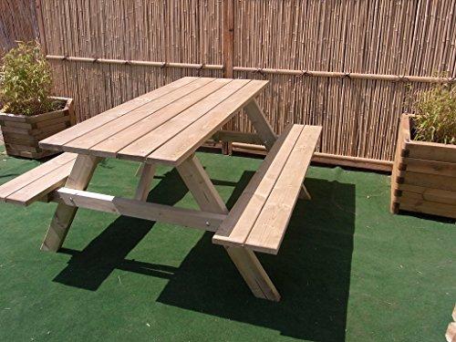 Picknicktisch Bierbank 150 cm Picknickbank Bank Tisch