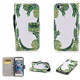 Nancen Compatible with Handyhülle iPhone 5 / 5S / SE (4 Zoll) Hülle, Magnetverschluss Standfunktion Brieftasche und Karten Slot, Taschen & Schalen