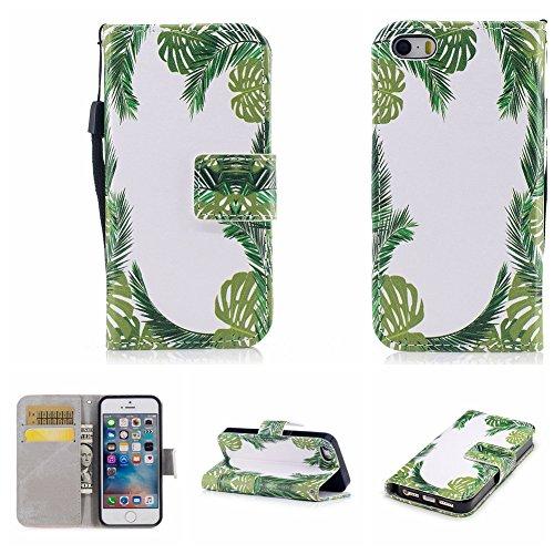 Nancen Compatible with Handyhülle iPhone 5 / 5S / SE (4 Zoll) Hülle, Magnetverschluss Standfunktion Brieftasche und Karten Slot, Taschen & Schalen (Unlocked I Phone 5s 32gb)