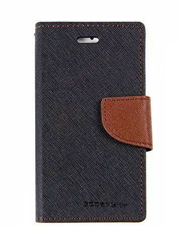 Cubezap Mercury Goospery Fancy Diary Wallet Flip Case Back Cover for Motorola Moto G MotoG 1st gen - Brown Black