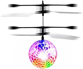 ToysCentral Flying Ball Helicopter Toy with LED Heliball and USB Charging and Hand Control Motion Sensor (Medium, Multicolour)
