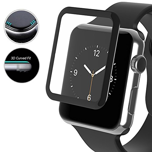 TopACE iProtect Screen Protector Tempered Glass Hartglas Schutzfolie/ Display Schutzglas Glasfolie 0,3mm für Apple Watch Series 3 42mm (2 Pack)