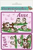 Bambinella® Namensetiketten Klebeetiketten - Motiv: Igelmädchen - 10cm breit